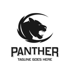 panther animal head logo design vector image