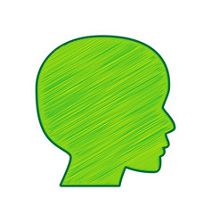 People head sign lemon scribble icon on vector