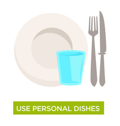 personal dishes use tuberculosis disease spread vector image