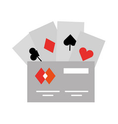 Poker cards with credit card vector