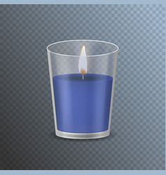 realistic detailed 3d candle on a transparent vector image