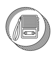 Recorder device icon vector