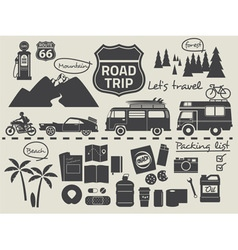 Road trip set vector