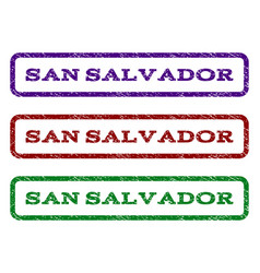 san salvador watermark stamp vector image