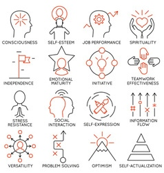 Set icons related to business management - 21 vector