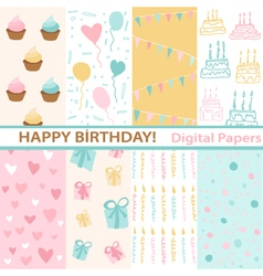 Set of Birthday vector image