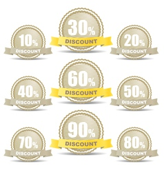 Shopping discount labels collection vector image
