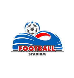 soccer football ball cup stadium arena icon vector image