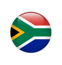 South africa flag on button vector