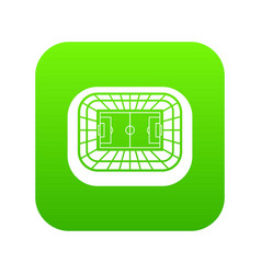 stadium top view icon digital green vector image