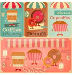 sweet shop set vector image