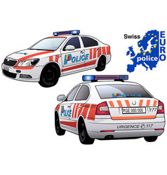 swiss police car vector image