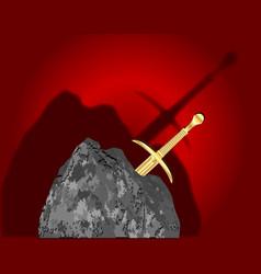 Sword in the stone vector