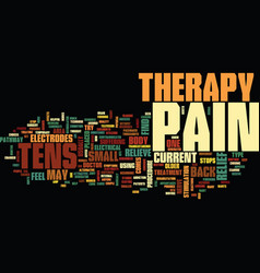 Tens therapy text background word cloud concept vector