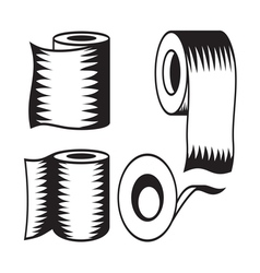 Toilet paper icon8 resize vector image