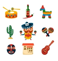 Traditional Mexical Objects vector