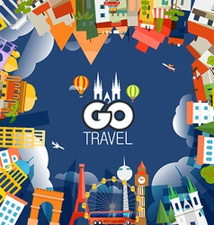 Travel concept Go travel vector image