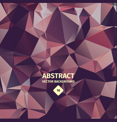 Triangle abstract background crumpled foil vector