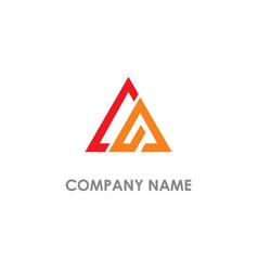 triangle shape line abstract company logo vector image