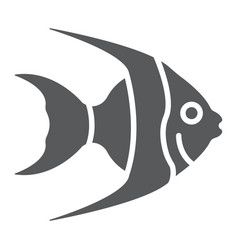 tropical fish glyph icon animal and underwater vector image