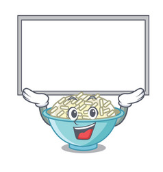Up board rice bowl character cartoon vector