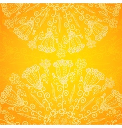 Vintage ethnic ornament orange background vector image