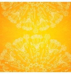 Vintage ethnic ornament orange background vector