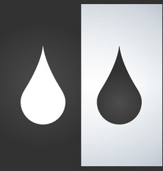 water drop - icon black and white vector image