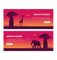 welcome to african safary landing page templates vector image