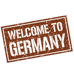 welcome to germany stamp vector image