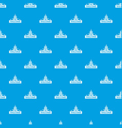 welcome to usa pattern seamless blue vector image
