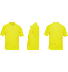 Yellow polo t shirt vector