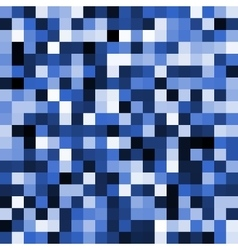 Abstract blue pixel background vector image vector image