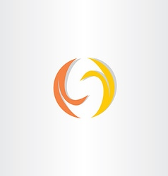 fire flame letter s logo icon vector image vector image