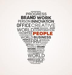 Light bulb business idea vector image vector image