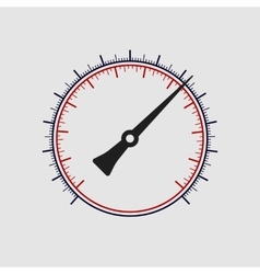 manometer without numbers on a white vector image vector image