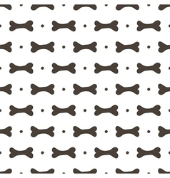 Seamless pattern background with bones vector image