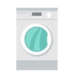 Washing Machine Household Appliances in Flat Style vector image