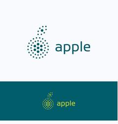 apple dots company logo vector image vector image