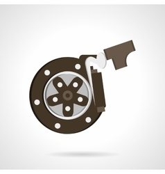 Braking systems flat color design icon vector image