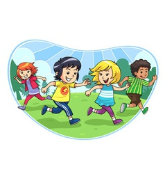 Catch And Run Play vector image