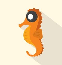 Modern Flat Design Seahorse Icon vector image vector image