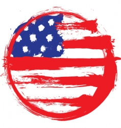 America circle flag vector image
