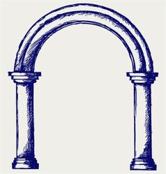 Arch vector image vector image