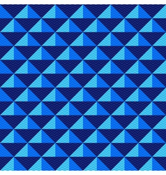 Seamless dark blue geometric pattern vector image vector image