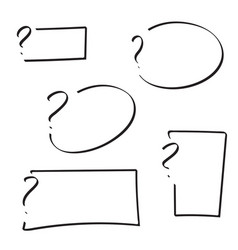 set of question mark vector image vector image
