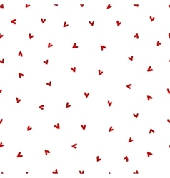 Watercolor Heart Pattern vector image