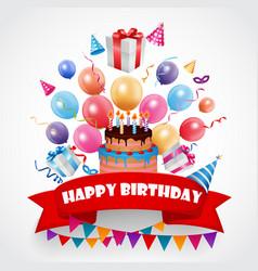 birthday celebration background vector image