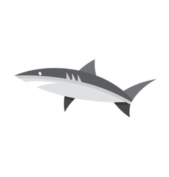 Logotype of shark black and white style flat vector image