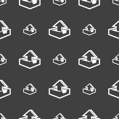 Upload icon sign Seamless pattern on a gray vector image vector image